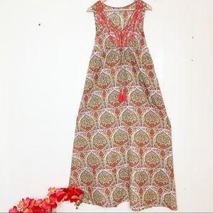 eShakti boho paisley embroidered maxi